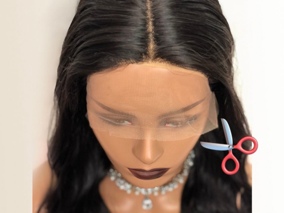 HOW TO CUT LACE OFF A LACE WIG